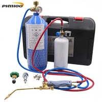 Juego de soplete portátil 2L, herramienta de reparación de refrigeración, aire acondicionado, tubo de cobre, soplete de soldadura, soplete de oxígeno, equipo de soldadura de Gas