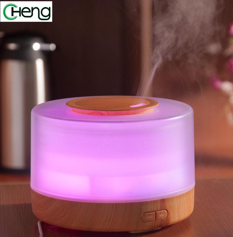 Serat Kayu 380 ml Minyak Esensial Aroma Ultrasonik Wewangian Humidifier Diffuser Rumah Tangga