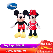 цена на 42cm Disney Mickey Mouse Minnie Animal Stuffed Plush Toys Kawaii Doll for Children Kid Girl Birthday Gift  Stuffed Toys Original