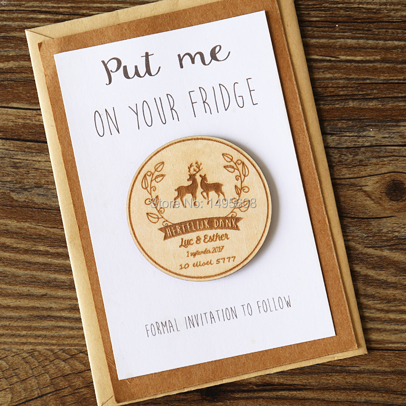 Rustic Love Deer Save the Date Magnets Wedding Favors Gift Tags ...