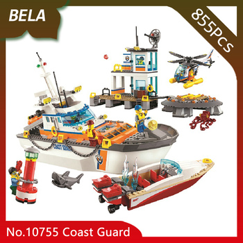 Bela 10755 City Series 855pcs Coast Guard Head Quarters Building Blocks Sets Education Toys For Birthday Gift Compatible 60167