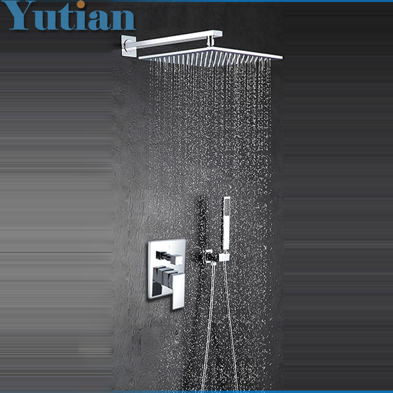 Free Shipping Modern Luxury 12 Inch Big Bath Shower Faucet Mixers