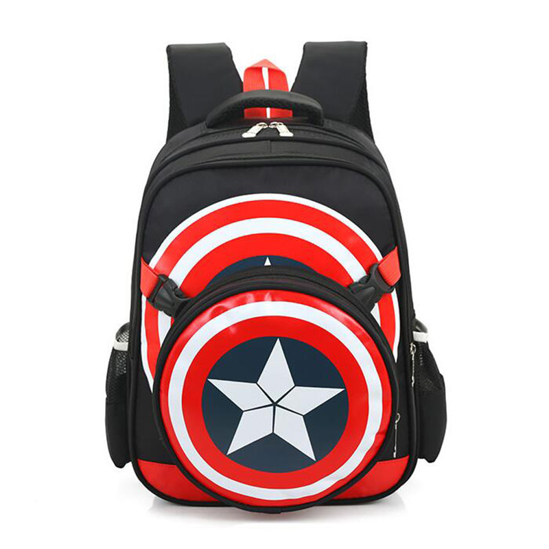 9d6140602a17 New School Backpacks Avengers Captain America Cartoon Style Schoolbags For  Kids Children Shoulder School Bags Mochila Infantil-in Backpacks from  Luggage ...