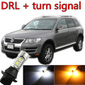 Free shipping For vw Touareg accessories 2002~2010 LED Daytime Running Light & Front Turn Signals all in one Xenon lamp