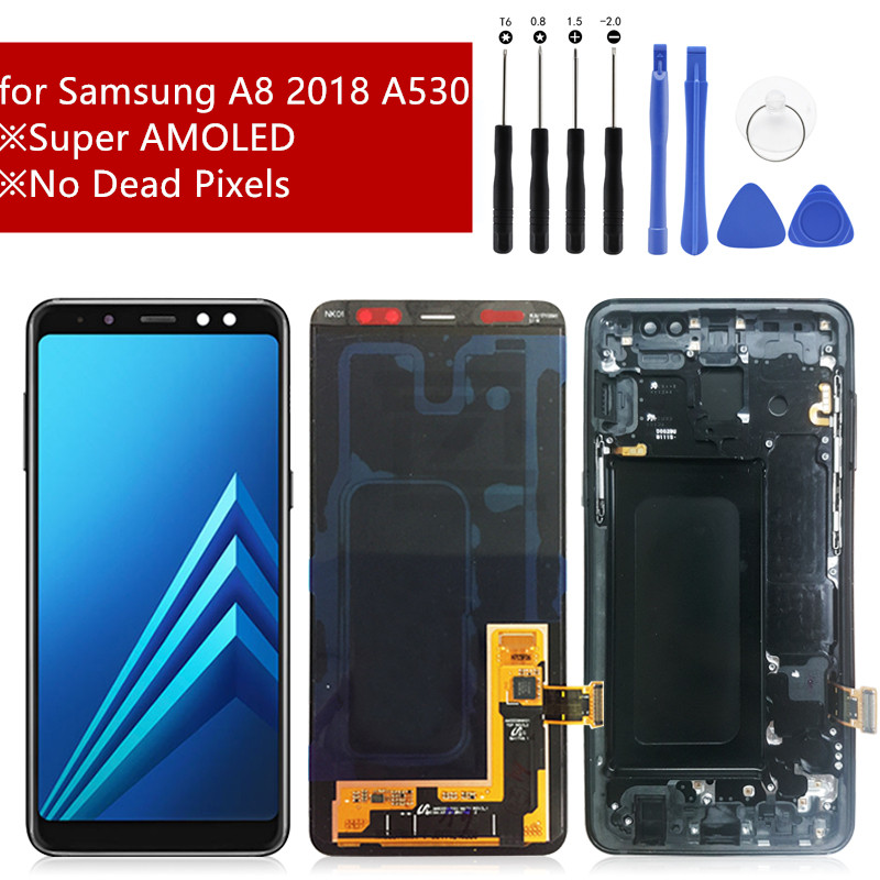 For Samsung Galaxy A8 2018 LCD Display Touch Screen Digitizer Assembly LCD Display for Galaxy A8