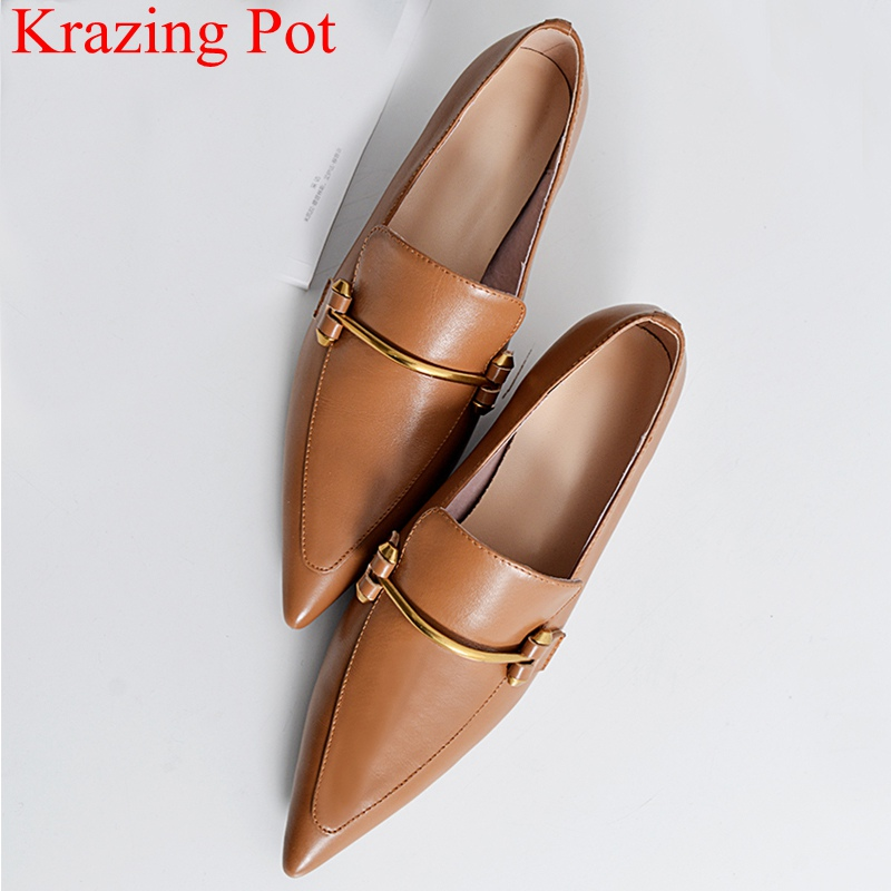2018 superstar genuine leather pointed toe metal high heels women pumps slip on runway elegant office lady wedding shoes L25 serpentine high heels women pumps elegant thick heel pointed toe office lady work shoes brand slip on shoe woman free shippingdo