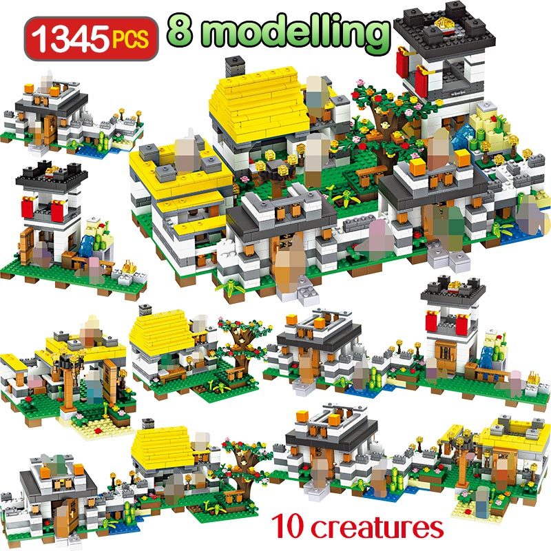 1345PCS My World Model Building Blocks Compatible LegoINGLYS Minecrafter Dreamlike Manor Educational Brick Toy For Children1345PCS My World Model Building Blocks Compatible LegoINGLYS Minecrafter Dreamlike Manor Educational Brick Toy For Children