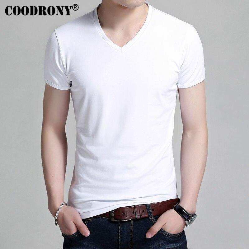 COODRONY T-Shirt Men Brand Clots
