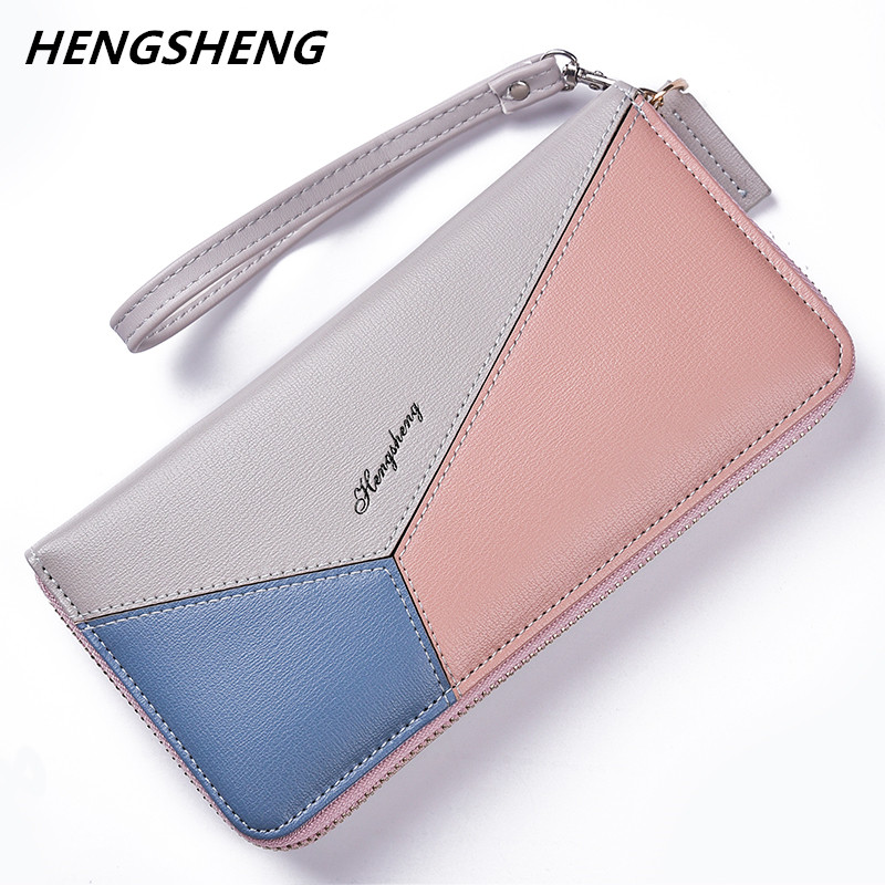 New Women Wallets Large Capacity Leather Clutch Checkbook Wallet Card Holder Purse For Women fashion lady phone bag gete new python leather women handbag lady real snake dinner women purse large capacity grab bag girl women cluth bag wallet
