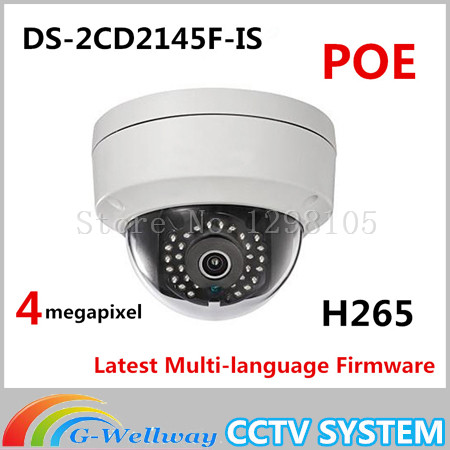 Free shipping DS-2CD2145F-IS same as english model DS-2CD2142FWD-IS H265 IP network dome poe cameras audio 4MP CCTV IPC touchstone teacher s edition 4 with audio cd