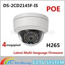 Бесплатная доставка DS-2CD2145F-IS же, как английская модель DS-2CD2142FWD-IS H265 IP сетевая купольная poe камеры аудио 4MP ВИДЕОНАБЛЮДЕНИЯ IPC