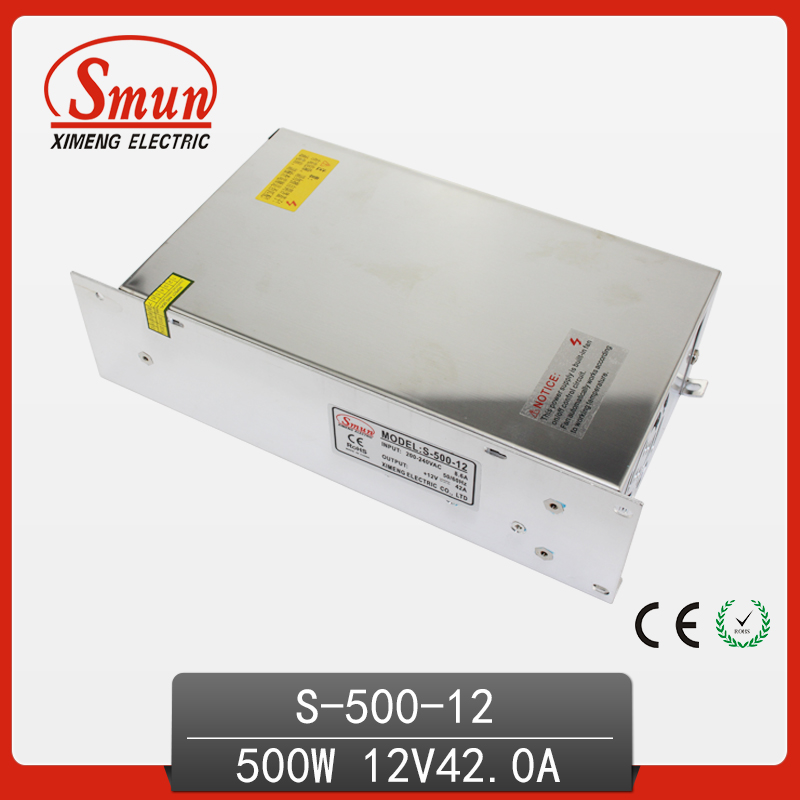 500W 12VDC 40A Single Output Switching Power Supply With CE ROHS China Factory for Light наклейки china dream rohs 1 52x30m 3d