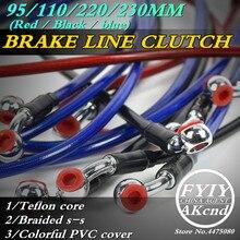 Motorcycle Dirt Bike Braided Steel Hydraulic Reinforce Brake line Clutch Oil Hose Tube 950/1100/2200/2300mm Universal Fit Racing