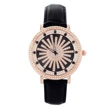 Montre Femme GOOD LUCK Rotating Watch Water Column Women Diamond Watches Vogue Girls Rhinestone Wrist watch Quartz Relojes W059