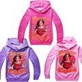 Crianças dos desenhos animados meninos e meninas longo-manga comprida t-shirt roupas casuais cinza Elena de Avalor rosa preto Tshirt frete grátis disponível