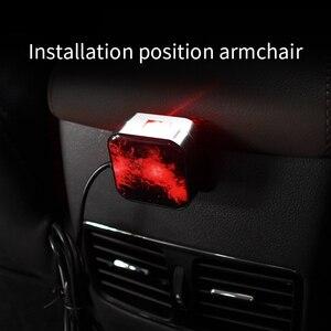 Image 3 - חדש רכב סטיילינג USB פנים קישוט אור שלט רחוק לסובב כוכב שמיים לייזר מנורה אוטומטי הקרנת מוסיקה אווירה אור