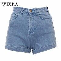 Wixra Basic Shorts 2017 Women S High Stretched Denim Shorts Ladies High Waist Jeans Shorts Plus