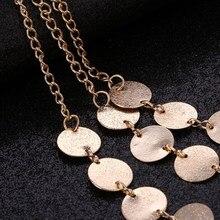 Ethnic Custom Geometric Coin Maxi Necklace