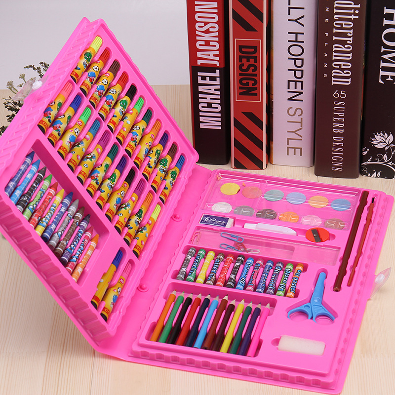 Lapiz Color Pencil 86pcs The Children's Painting Stationery School Art Tools Watercolor Pen Pencil Crayon Scissors Clip Colour the pencil