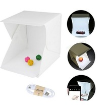 Portátil dobrável Estúdio Lightbox LED Soft Light Box-Tirar Fotos Como um Profissional sobre a Ir com um Smartphone ou DSLR Camera