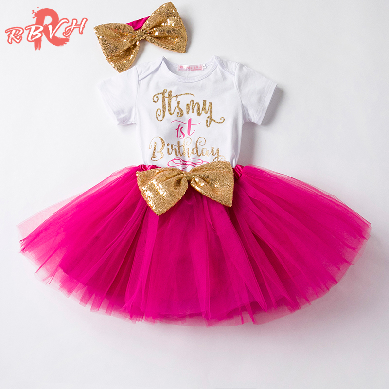 One Year Baby Tutu Clothes Sets Kids Clothes For Girl 1st