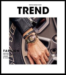 Image 5 - メンズ腕時計 2019 自動機械式腕時計レザーストラップヴィンテージスケルトン時計腕時計レロジオ masculino