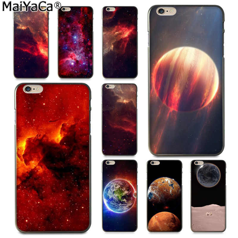 MaiYaCa Red Galactic Nebula Cute Phone Accessories Case for Apple iphone 11 pro 8 7 66S Plus X 5S SE XS XR XS MAX Cover