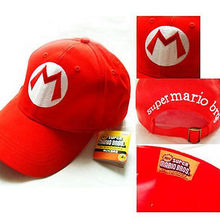 Super Mario Bros Adult Kids Costume Hat Anime Cosplay Red Mario Cap Baseball Caps