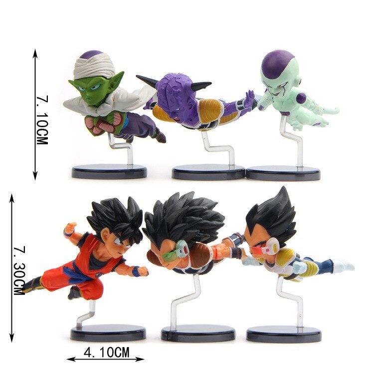 6Pcs//Set Dragonball Z Dragon Ball DBZ Goku Piccolo Figure Kid Toy Birthday Gift