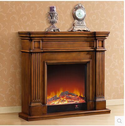 repisa de la chimenea de madera minimalista continental americana decorativo oscuro horno de la calefaccin core