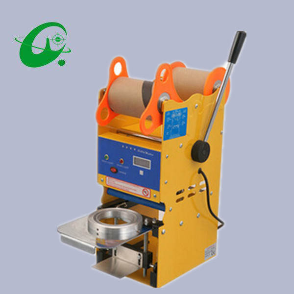 Stainless steel Semi-auto Sealing Cup machine Used for 95mm or 75mm diamater of PP PE PET ect. material 300~500Cups/H  цены