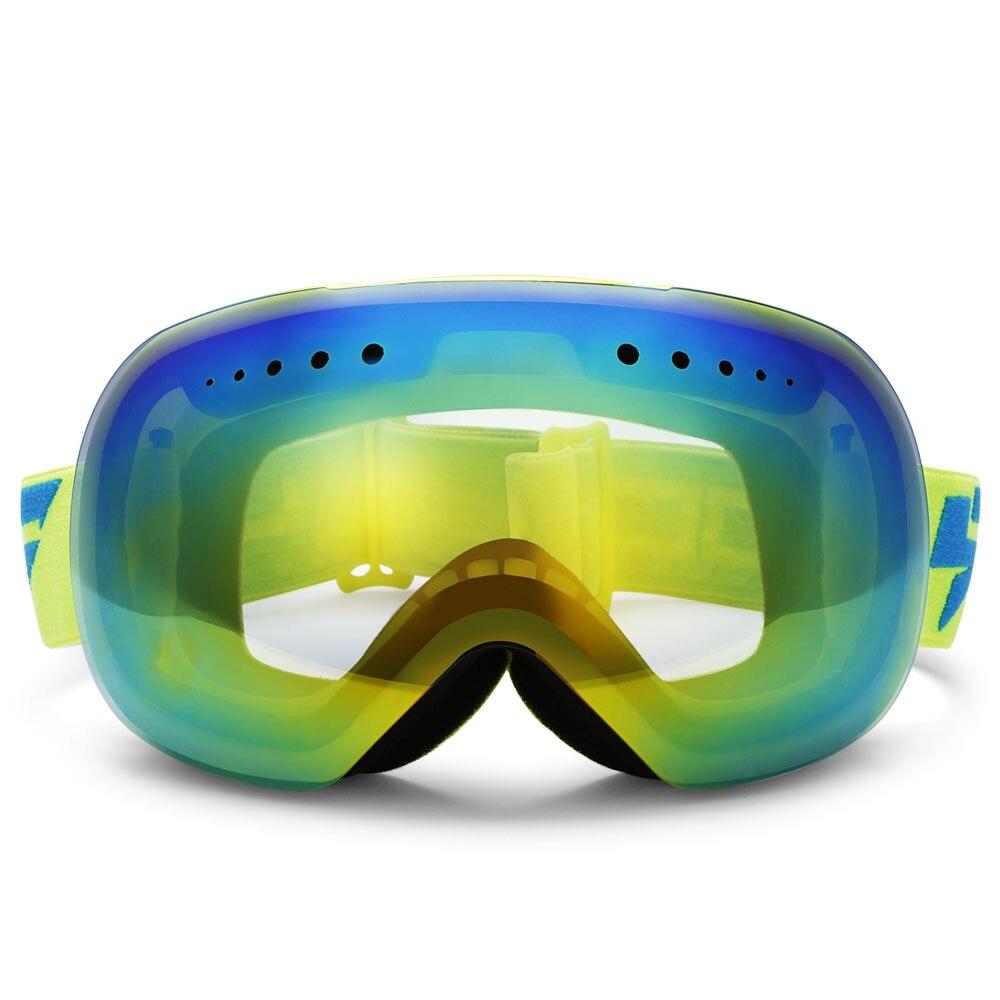 Prix pour Haute Qualité Sphérique Lunettes de Ski Snowboard Lunettes de Protection UV Lentille Ski Lunettes Lunettes de Neige Ski Lunettes Anti-vent
