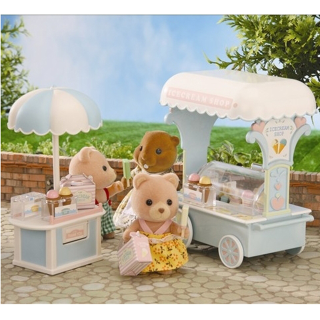 1 12 sylvanian families house ice cream cart shop set - Sylvanian families cuisine ...