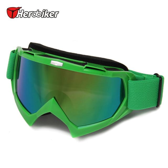 HEROBIKER Motorcycle Goggles Motocross Snowmobile Motorcycle Glasses Ski Snowboard Glasses Off-Road Downhill Racing Eyewear