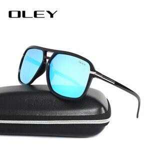 Мужские солнцезащитные очки OLEY, винтажные брендовые дизайнерские очки с поляризационными стеклами, большие затемненные очки