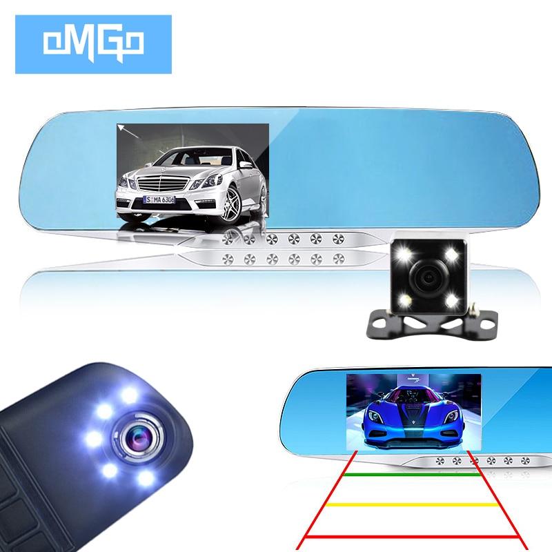 imágenes para Hd1080p visión nocturna dual de la lente de la cámara del espejo retrovisor del dvr de coches dvr grabador de video dash cam videocámara registrator