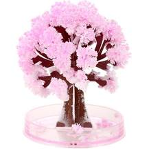 Mini Visual Magic Artificial Sakura Trees Decorative Growing DIY Paper Tree Gift Novelty Baby Toy Flower Tree Exploring(China)