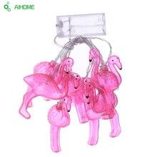 10Pcs/Set Flamingo LED String Night Light Girl Room Background Lamp Party Decoration Lights