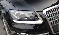 For Audi Q5 2009 2010 2011 2012 Outside Head Front Light Lamp Eyelid Eyebrow Lid Cover Trim 2 Pcs