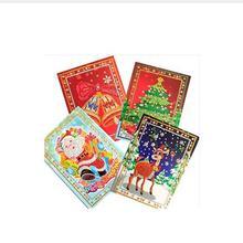 4 piece set 5D DIY diamond painting cartoon paper postcard greeting card crafts children Santa Claus Merry Christmas