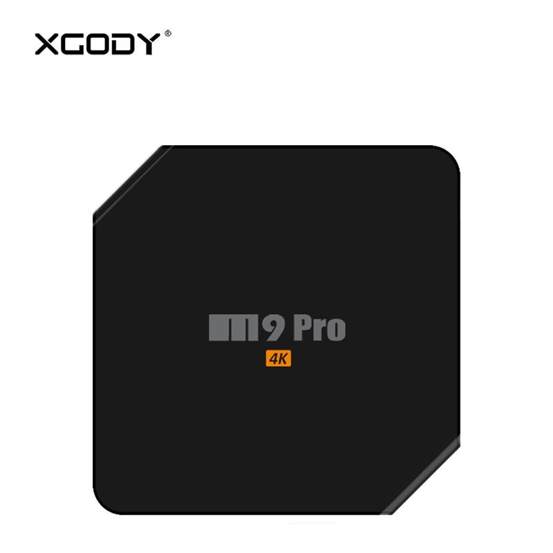 XGODY M9 Pro Smart TV Box Android 7.1 Nougat Amlogic S912 Octa Core 3GB DDR4 RAM 32GB eMMC ROM Kodi Media Player 4K TV Receiver tv box android m 6