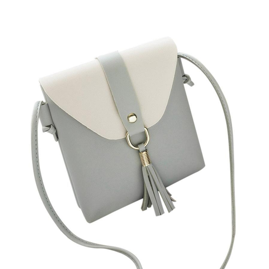 Модные женские Искусственная кожа, бахрома сумка женская сумка-стиль сумки небольшой площади сумка # F