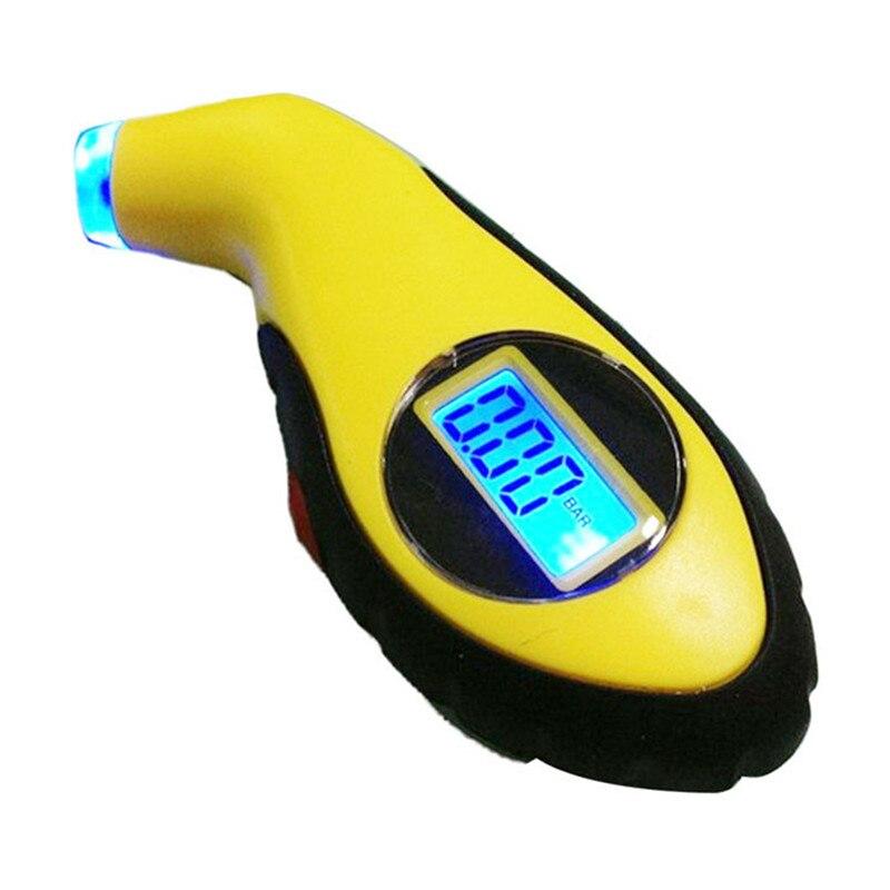 LCD Digital Auto Car Motorcycle Air Pressure Tire Tyre Gauge Tester Tool TJ