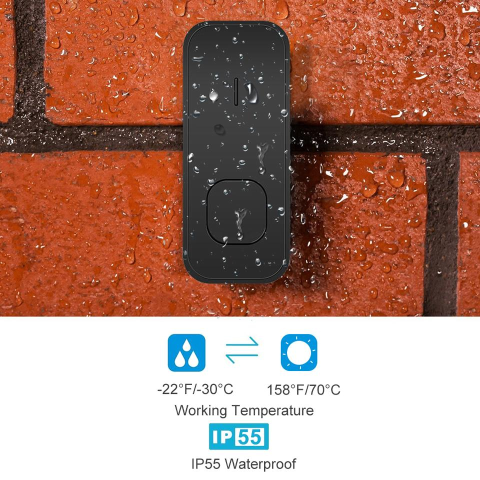 Image 3 - DAYTECH Wireless Door Bell Remote Cordless DoorBell 55 Ring Tone Chime Home Welcome Sensor Waterproof IP55 EU/US/UK Plug-in Doorbell from Security & Protection