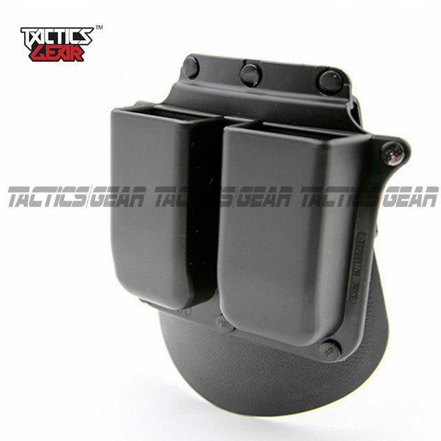 New Holster 6900p Paddle Style Double Magazine Pouch For Glock 9mm