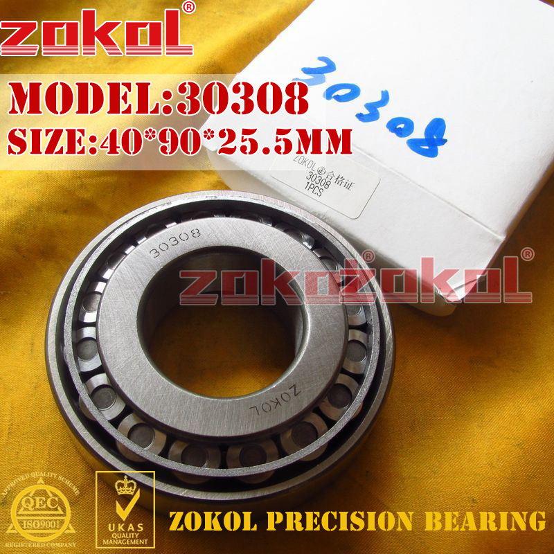 ZOKOL bearing 30308 7308E Tapered Roller Bearing 40*90*25.5mm na4910 heavy duty needle roller bearing entity needle bearing with inner ring 4524910 size 50 72 22