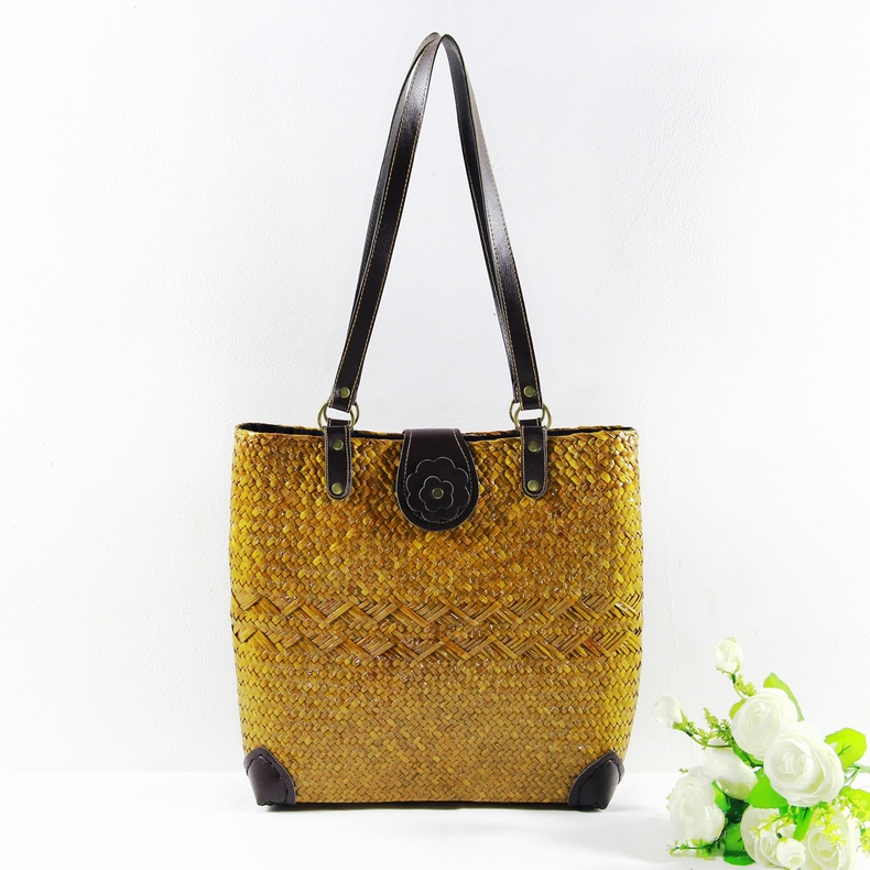 Thai version of the braided package of rattan series beach package Japanese art package women 's style women' s retro bag