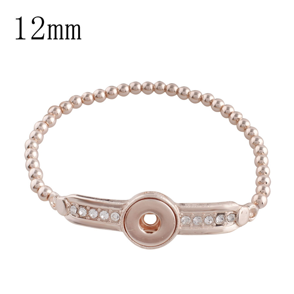 Partnerbeads Beautiful Love Crystal Silver Fashion Bangle Bracelets Korean Snap Jewelry 2018 New Womens Gift Wholesale KS1137-S