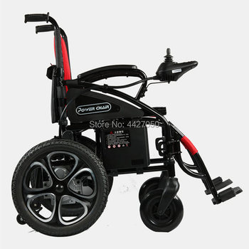 Lightweight steel electric portable wheelchair