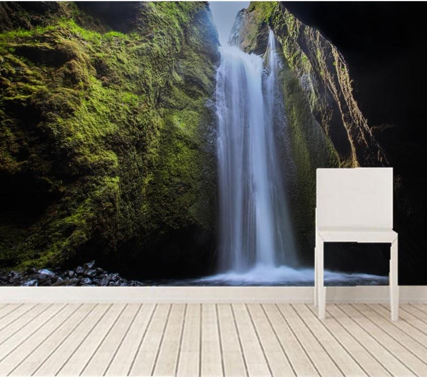 Custom 3d murals,Iceland Waterfalls Moss Crag Nature wallpapers,living room sofa tv wall children bedroom papel DE parede